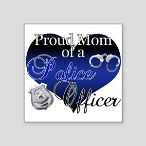 "Police Mom Square Sticker 3"" x 3"""